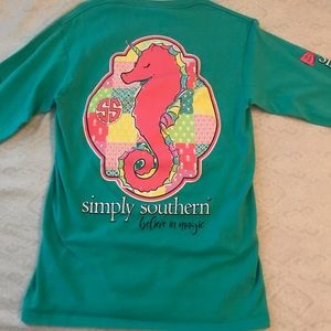 Simply Southern Long Sleeve Seahorse t-shirt